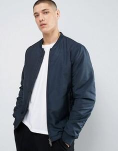 Куртка‑пилот с двусторонней молнией Selected Homme - Темно-синий