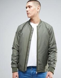Куртка‑пилот с двусторонней молнией Selected Homme - Зеленый