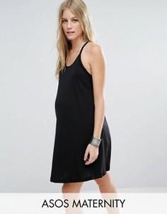 Сарафан на плетеных бретельках для беременных ASOS Maternity - Черный