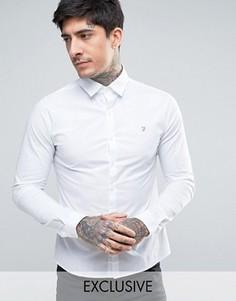 Белая поплиновая рубашка скинни эксклюзивно для Farah - Белый