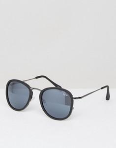 Круглые солнцезащитные очки Quay Australia Odyssey - Черный