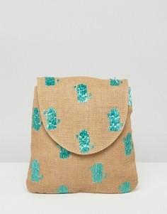 Пляжный рюкзак с кактусами ASOS - Мульти