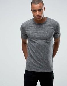 Узкая меланжевая футболка-премиум Jack & Jones - Серый