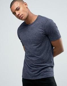 Узкая меланжевая футболка-премиум Jack & Jones - Темно-синий