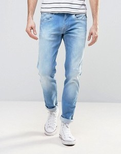 Узкие светлые джинсы стретч Replay Anbass - Синий
