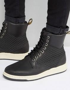 Ботинки с 8 парами люверсов Dr Martens Rigal - Черный