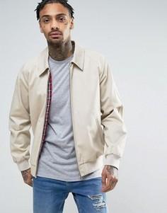 Хлопковая куртка Харрингтон ASOS - Stone