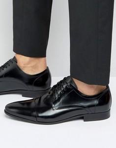 Черные кожаные туфли дерби Aldo Valbuena - Черный