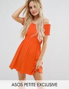 Сарафан-бандо мини ASOS PETITE - Оранжевый
