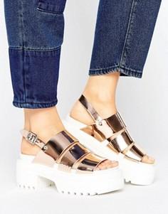 Массивные сандалии с ремешками ASOS TARA - Золотой