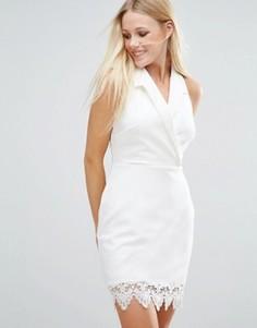 Платье в стиле смокинга Girls On Film - Белый