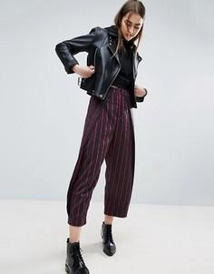 Укороченные брюки в полоску ASOS WHITE - Мульти