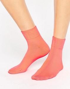 Флуоресцентные носки с логотипом Calvin Klein - Оранжевый