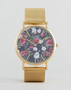 Часы с цветочным принтом Reclaimed Vintage - Золотой