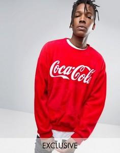 Пушистый oversize-свитшот Reclaimed Vintage X Coca Cola - Красный