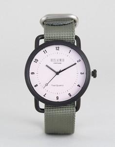 Часы с серым парусиновым ремешком Reclaimed Vintage - Серый