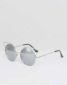 Солнцезащитные очки с зеркальными стеклами Monki - Серебряный