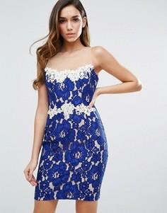 Кружевное платье мини Forever Unique - Синий