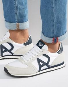 Белые кроссовки для бега с логотипом Armani Jeans - Белый