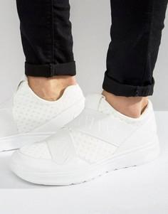 Белые кроссовки с эластичными ремешками Armani Jeans Elastic - Белый