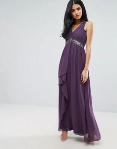 Платье макси с декоративной отделкой Little Mistress - Фиолетовый