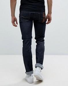 Синие джинсы скинни Versace - Синий