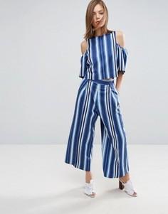Комбинируемая юбка-брюки в полоску ASOS - Мульти