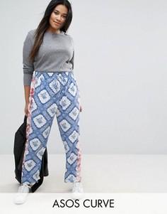 Широкие брюки с принтом ASOS CURVE - Мульти