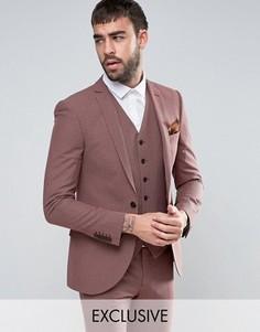 Приталенный пиджак в ломаную клетку Heart & Dagger Summer - Красный