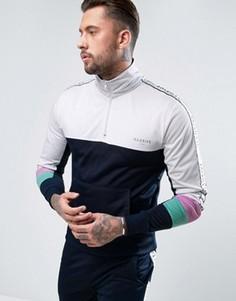 Спортивная куртка через голову с кантом Illusive London - Темно-синий