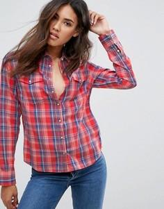 Узкая джинсовая рубашка в клетку Lee - Мульти