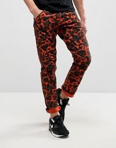 Оранжевые джинсы с камуфляжным принтом G-Star 5622 x25 Elwood Pharrell - Оранжевый