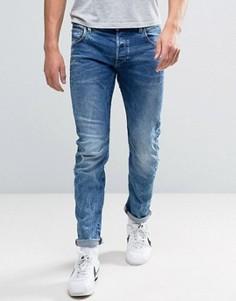 Узкие выбеленные джинсы G-Star Arc 3D - Синий