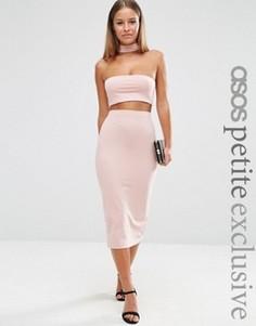 Трикотажная юбка-карандаш для миниатюрных ASOS PETITE - Розовый
