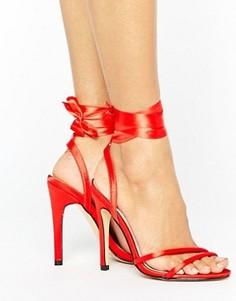 Сандалии на тонком каблуке с завязками Truffle - Красный