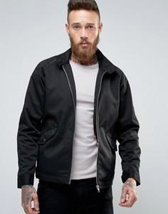 Черная куртка Харрингтон с воротником‑труба ASOS - Черный
