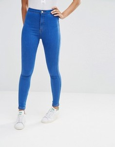 Эластичные джинсы скинни с завышенной талией Missguided Vice - Синий