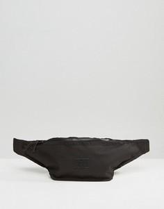 Большая черная сумка-кошелек на пояс ASOS - Черный