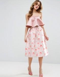 Жаккардовая юбка для выпускного ASOS - Мульти