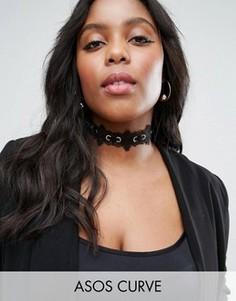 Ожерелье-чокер со шнуровкой ASOS CURVE - Черный