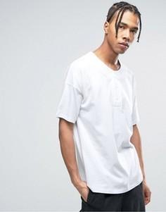 Белая oversize-футболка ASOS - Белый