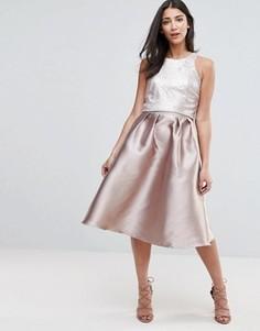 Декорированное платье для выпускного Little Mistress - Розовый