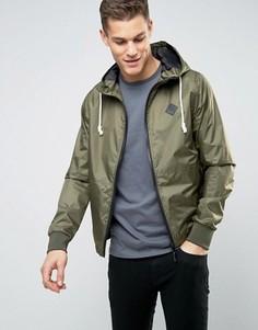 Нейлоновая куртка на молнии с капюшоном Blend - Зеленый