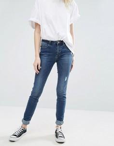 Сильно рваные зауженные джинсы Only - Синий