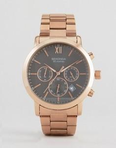 Наручные часы с хронографом и черным циферблатом Sekonda эксклюзивно для ASOS - Золотой
