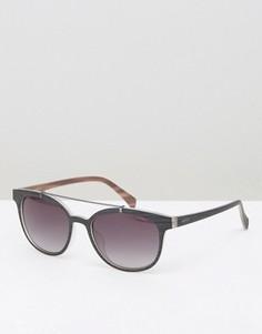 Круглые солнцезащитные очки с двойной переносицей Esprit - Черный