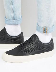 Черные кроссовки Vans Old Skool Weave Pack VA38G9L3A - Черный