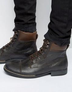 Ботинки из нубука со шнуровкой Bellfield Noma - Черный