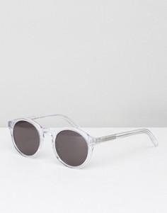 Круглые солнцезащитные очки в прозрачной оправе Monokel Barstow - Прозрачный