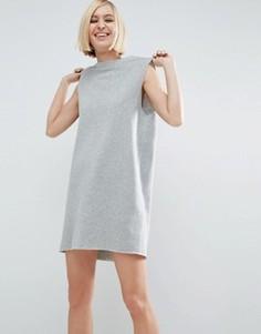 Трикотажное платье мини ASOS - Серый